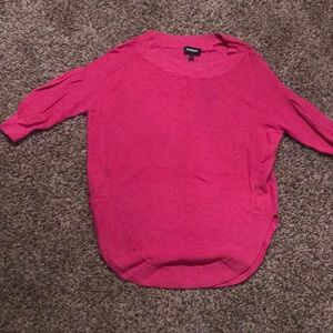 Em right pink 3/4 sleeve sweater xs